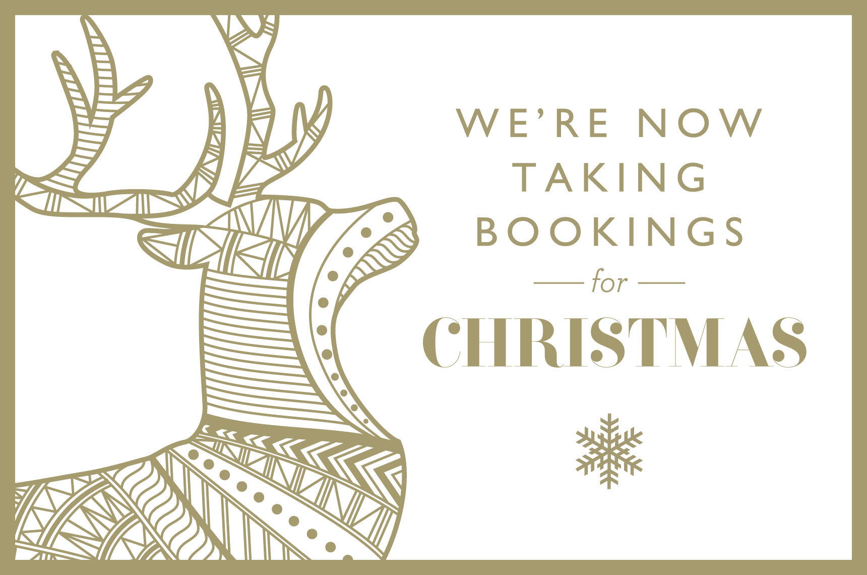 Christmas pre bookings - The Angel and Blue Pig